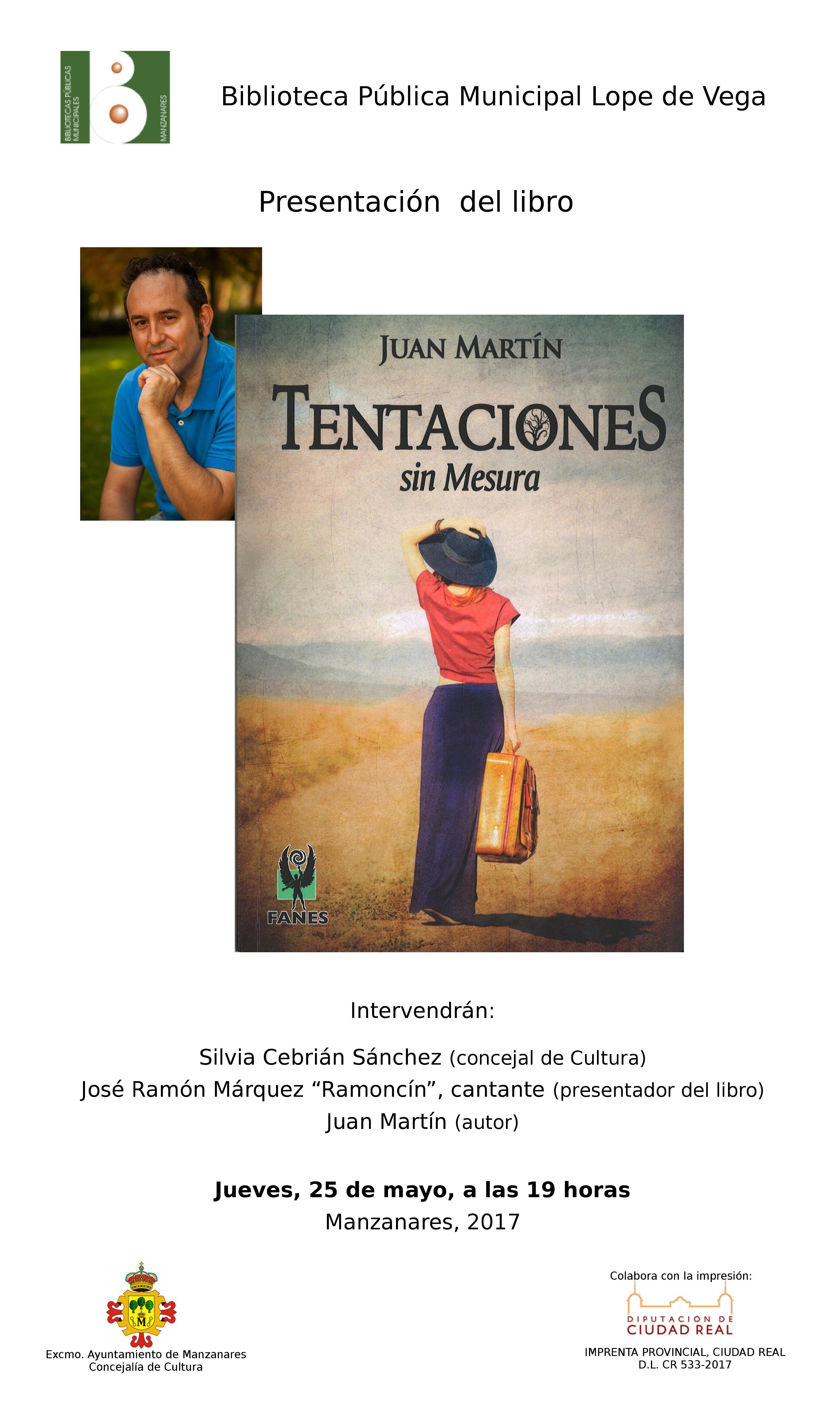 """Imagen de la actividad Presentación del libro """"Tentaciones sin mesura"""" de Juan Martín"""