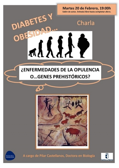 """Imagen de la actividad Charla: """"Diabetes y Obesidad: ¿Enfermedades de la Opulencia o Genes Prehistóricos?"""".  Pilar Castellanos"""