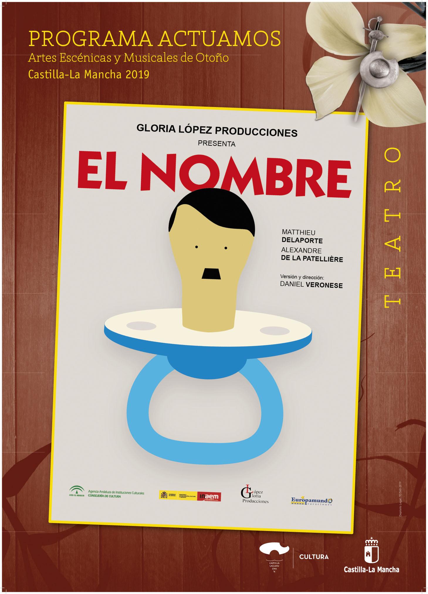 """Imagen de la actividad Programa Actuamos.Artes Escénicas y Musicales de Otoño. Castilla-La Mancha 2019  .""""El Nombre"""". Gloria López Producciones"""