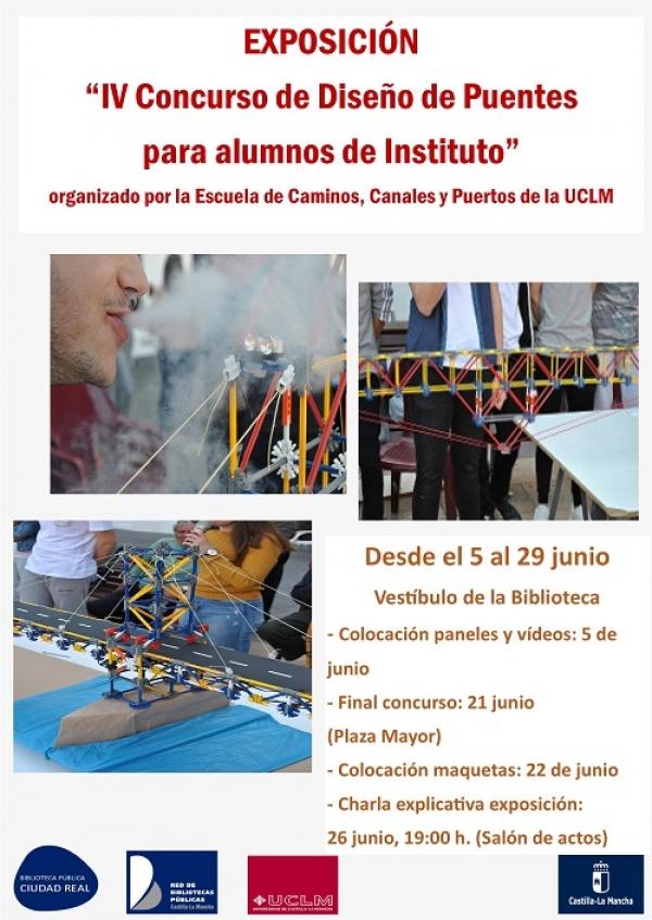 """Imagen de la actividad Exposición : """" IV Concurso de Diseño de Puentes para alumnos de Instituto """"."""
