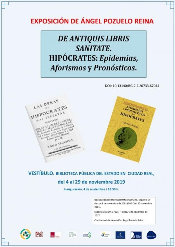 """Imagen de la actividad  Exposición """"De antiquis libris sanitate. Hipócrates: epidemias, aforismos y pronósticos"""" de Ángel Pozuelo Reina"""