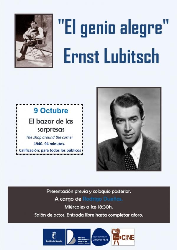 """Imagen de la actividad CineClub de Octubre """"El genio alegre"""", Ernst Lubitsch :""""El bazar de las sorpresas"""" (The shop around the corner.) Ernst Lubitsch. 1940"""