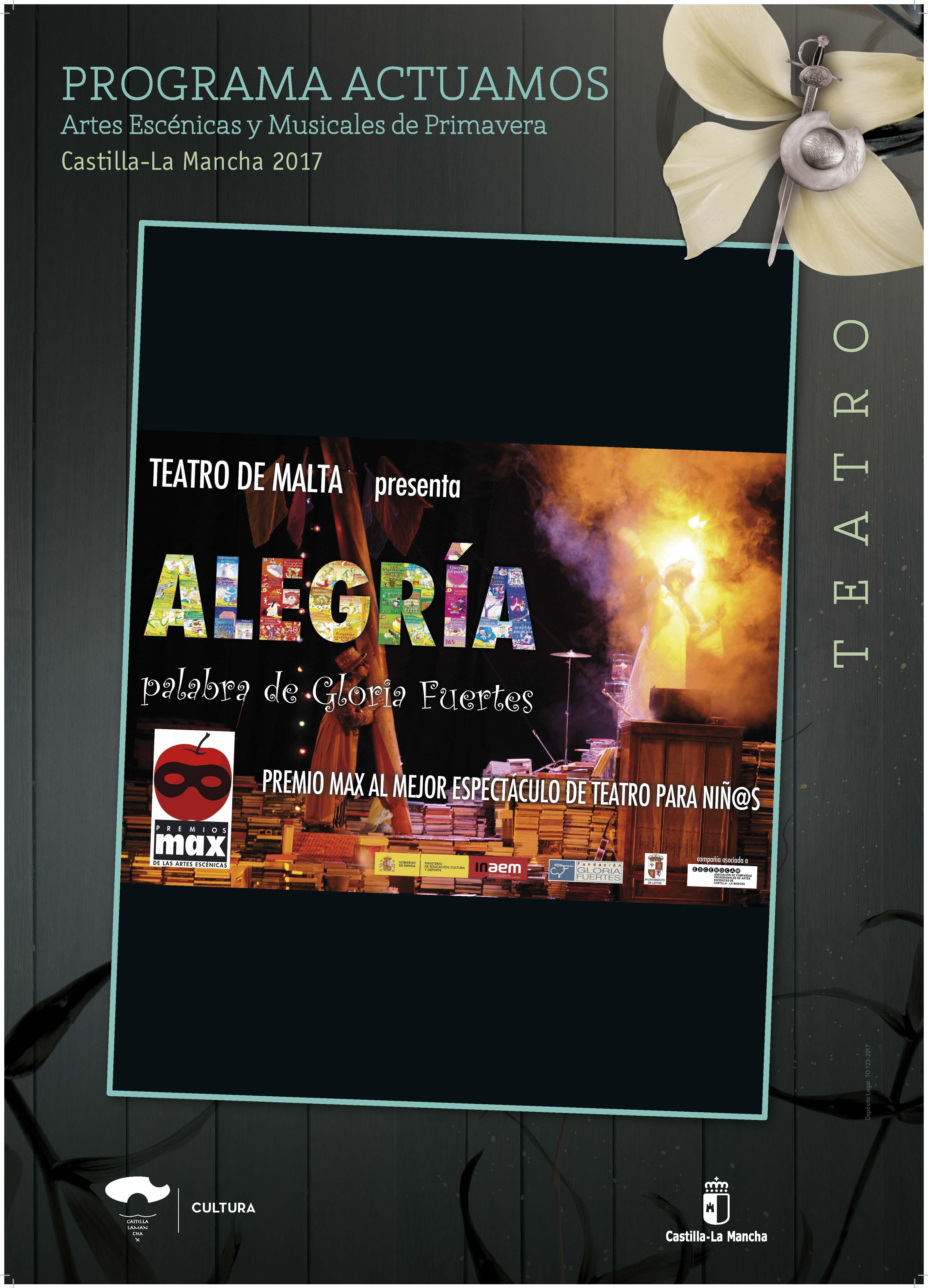 Imagen de la actividad ALEGRÍA, PALABRA DE GLORIA FUERTES (Teatro de Malta)