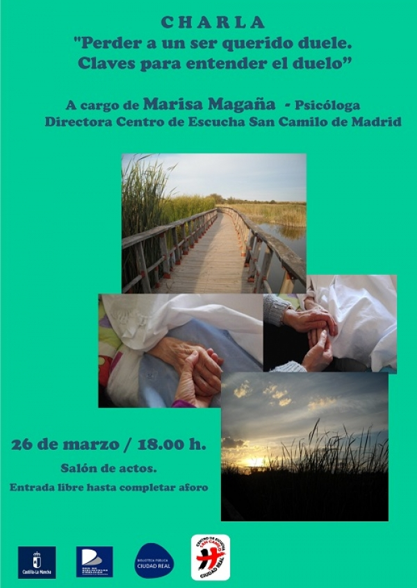 """Imagen de la actividad Charla """"Perder a un ser querido duele. Claves para entender el duelo"""" .  Marisa Magaña"""