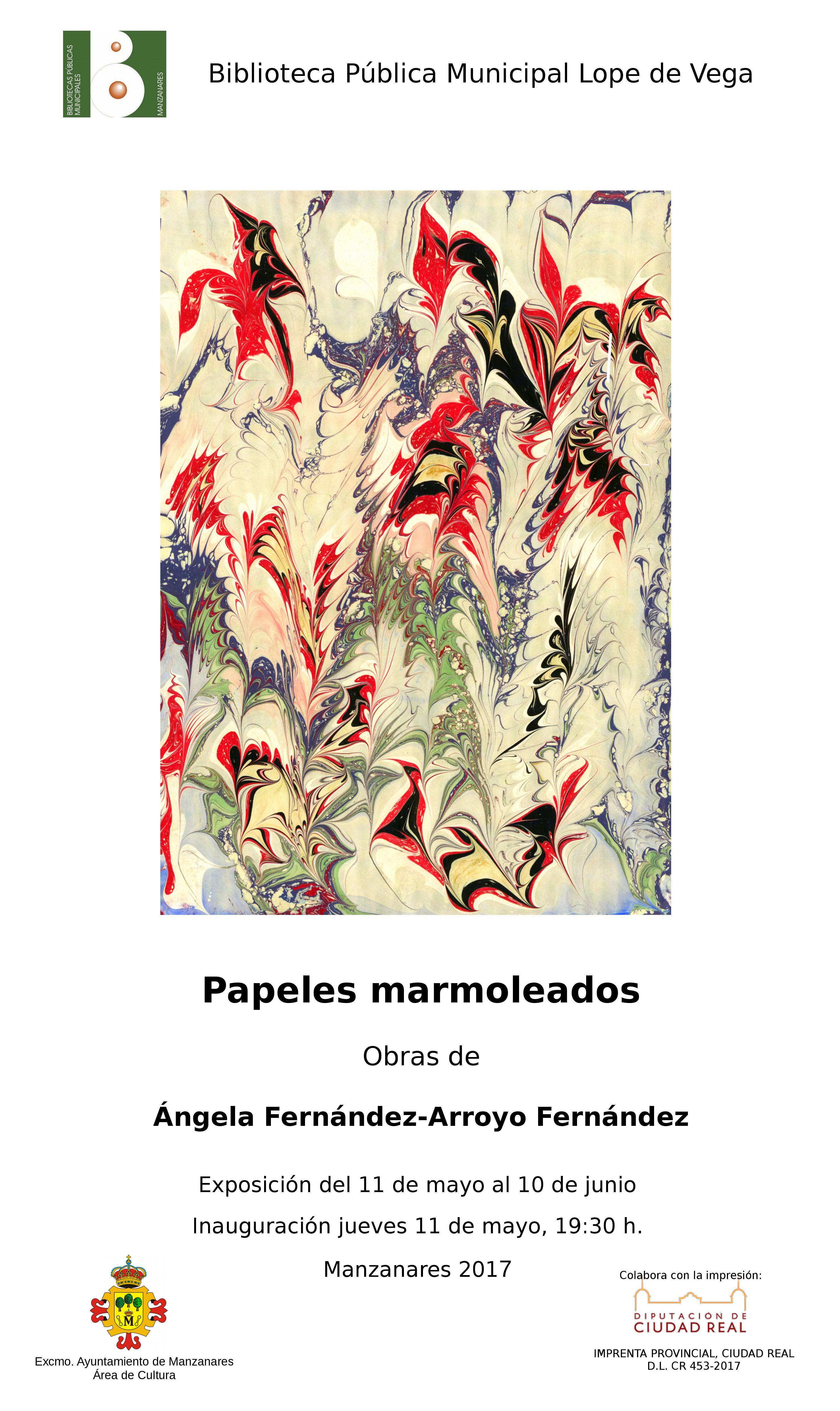 Imagen de la actividad Papeles marmoleados. Obras de Ángela Férnandez-Arroyo Fernández