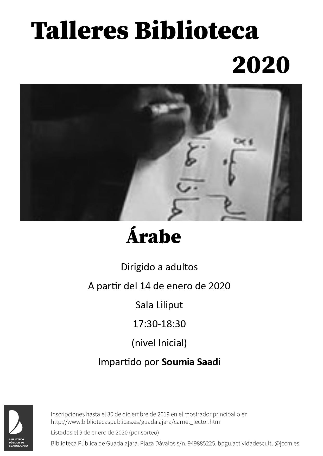 Imagen de la actividad Plazo de inscripción Taller de Árabe