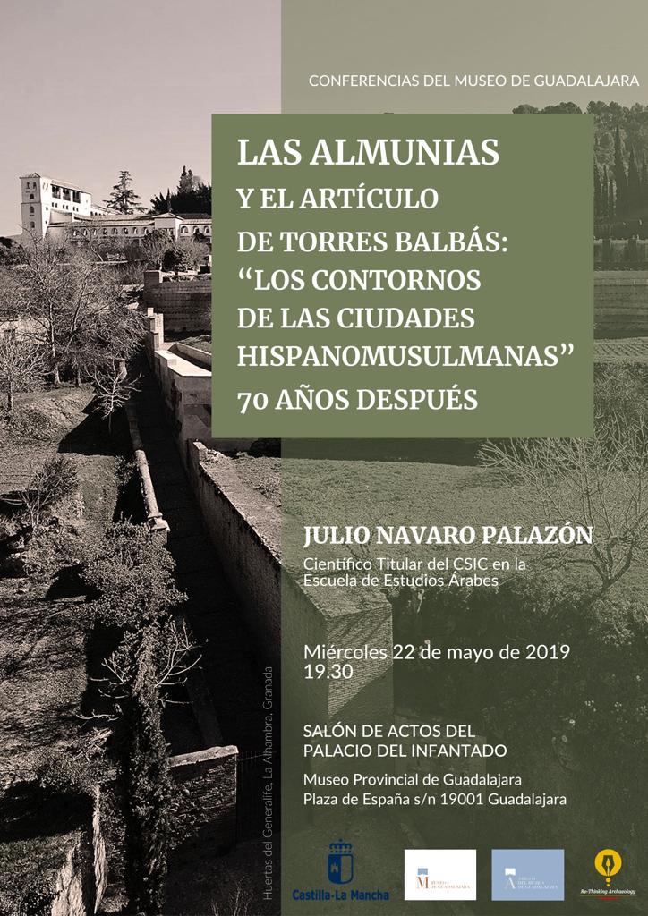 """Imagen de la actividad CONFERENCIA LAS ALMUNIAS Y EL ARTÍCULO DE TORRES BALBÁS:"""" LOS CONTORNOS DE LAS CIUDADES HISPANOMUSULMANAS"""" 70 AÑOS DESPÚES"""