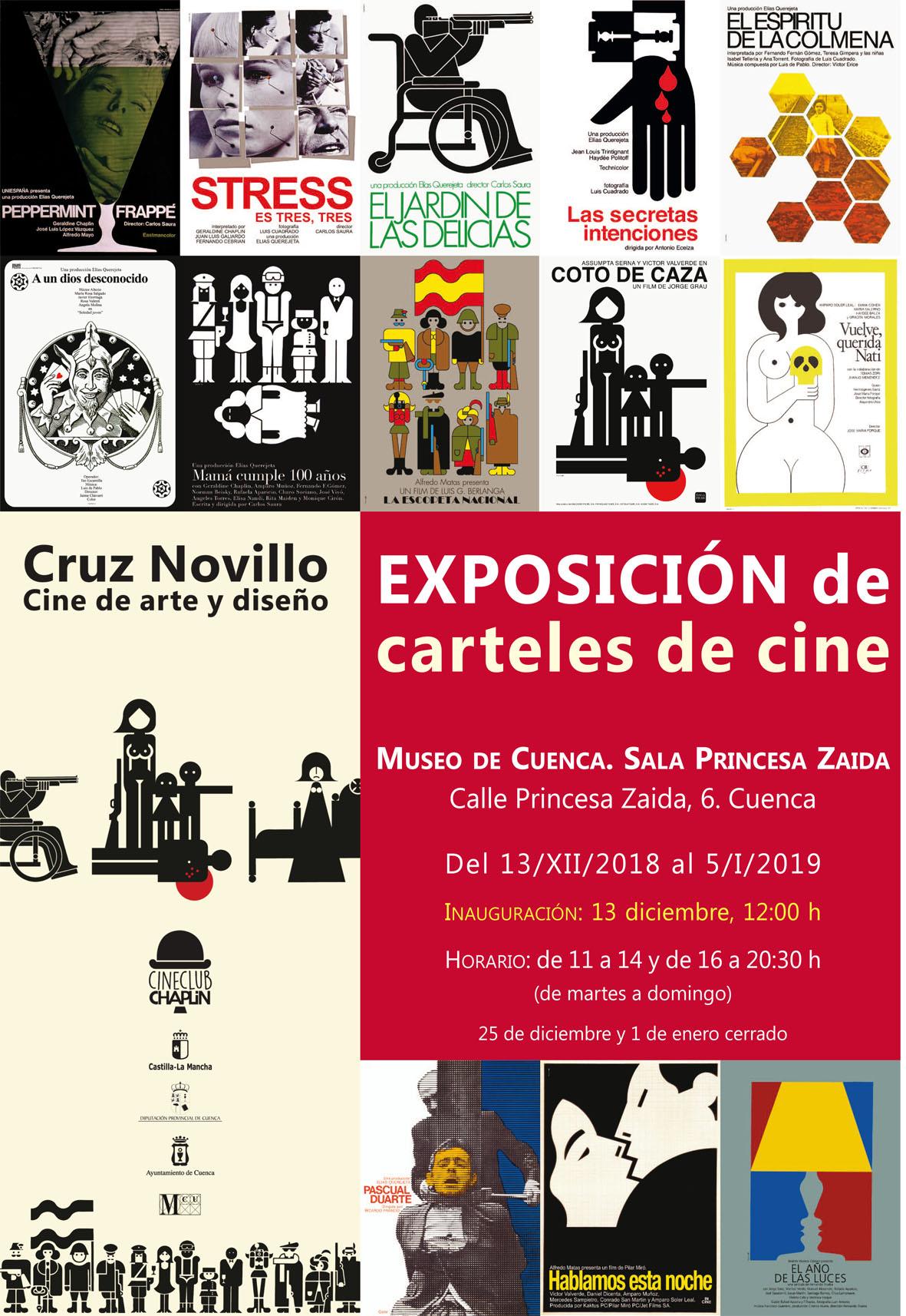"""Imagen de la actividad Exposición """"Carteles de cine. Cruz Novillo. Cine de arte y diseño"""""""