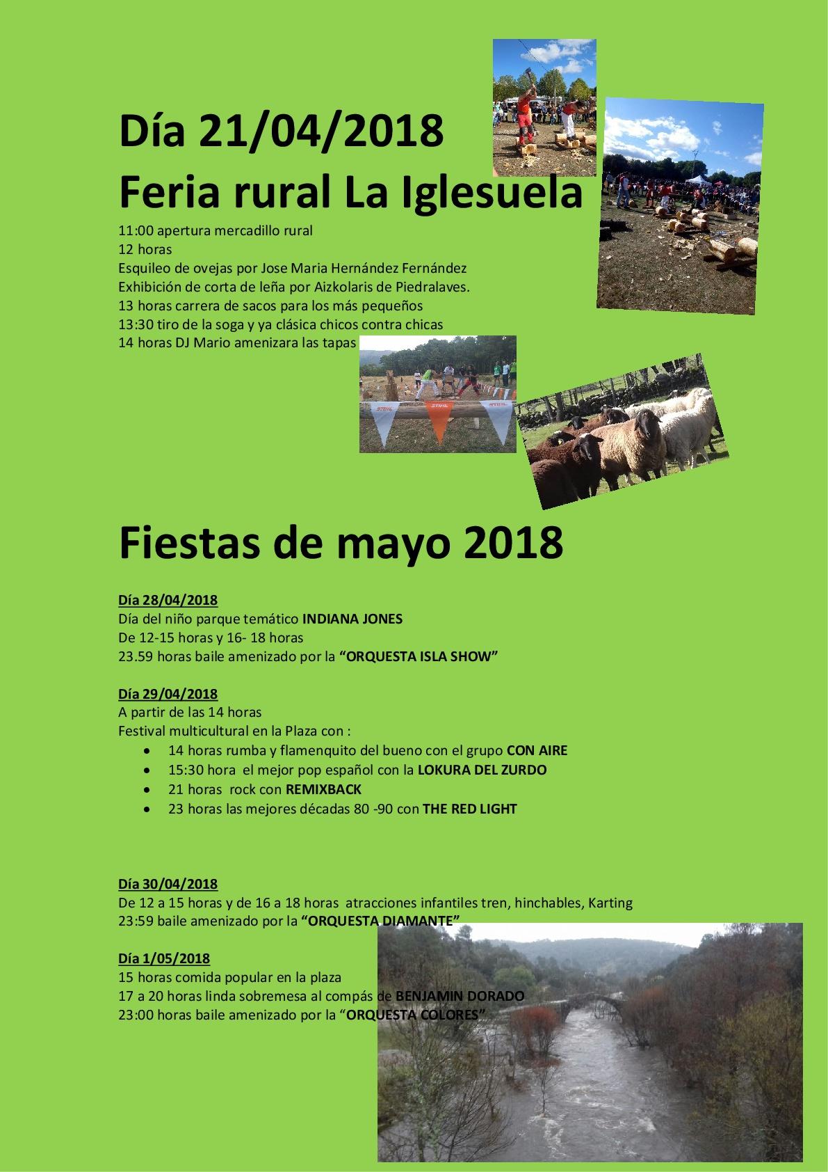 Imagen de la actividad Feria rural y Fiestas de Mayo 2018