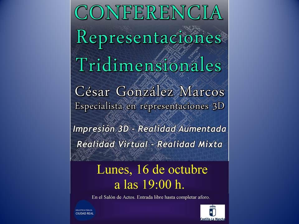 """Imagen de la actividad Conferencia """"Representaciones Tridimensionales"""""""