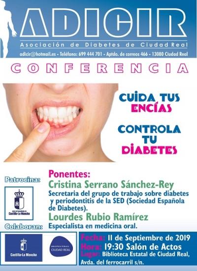 """Imagen de la actividad Charla """"Cuida tus encías. Controla tu diabetes"""". ADICIR"""