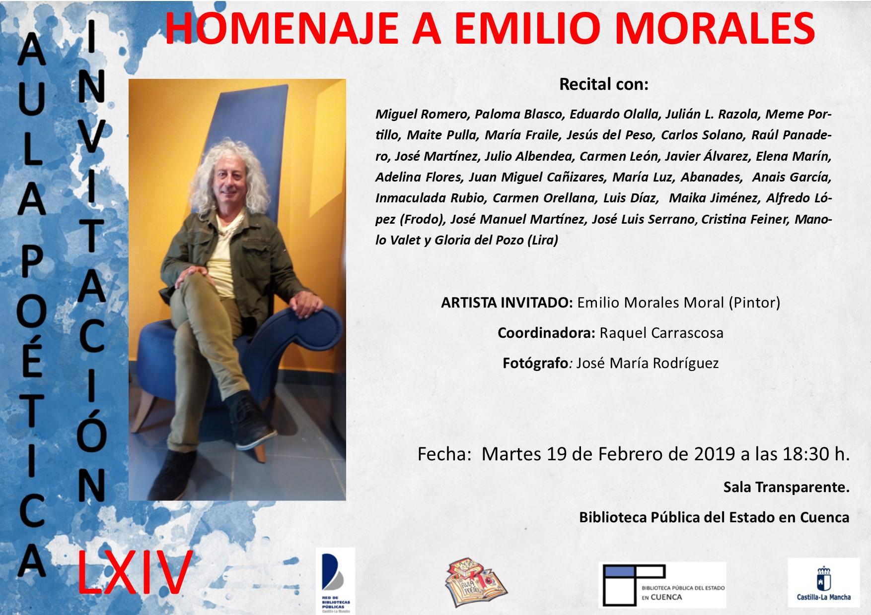 Imagen de la actividad Homenaje a Emilio Morales
