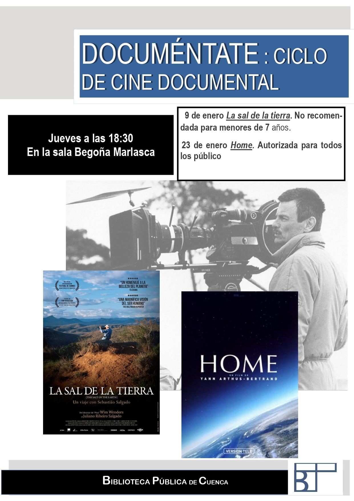 Imagen de la actividad DOCUMÉNTATE. Ciclo de cine documental en la BPE Cuenca.