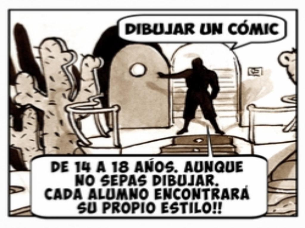 Imagen de la actividad  Plazo de inscripción en el Taller de Comic