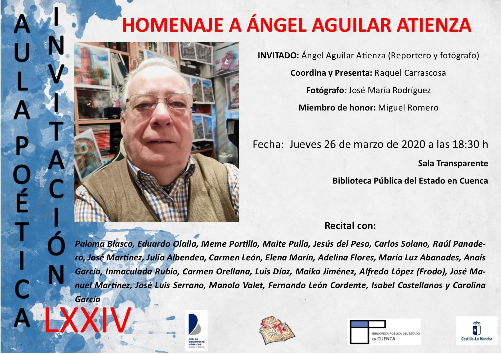 Imagen de la actividad Homenaje a Ángel Aguilar Atienza