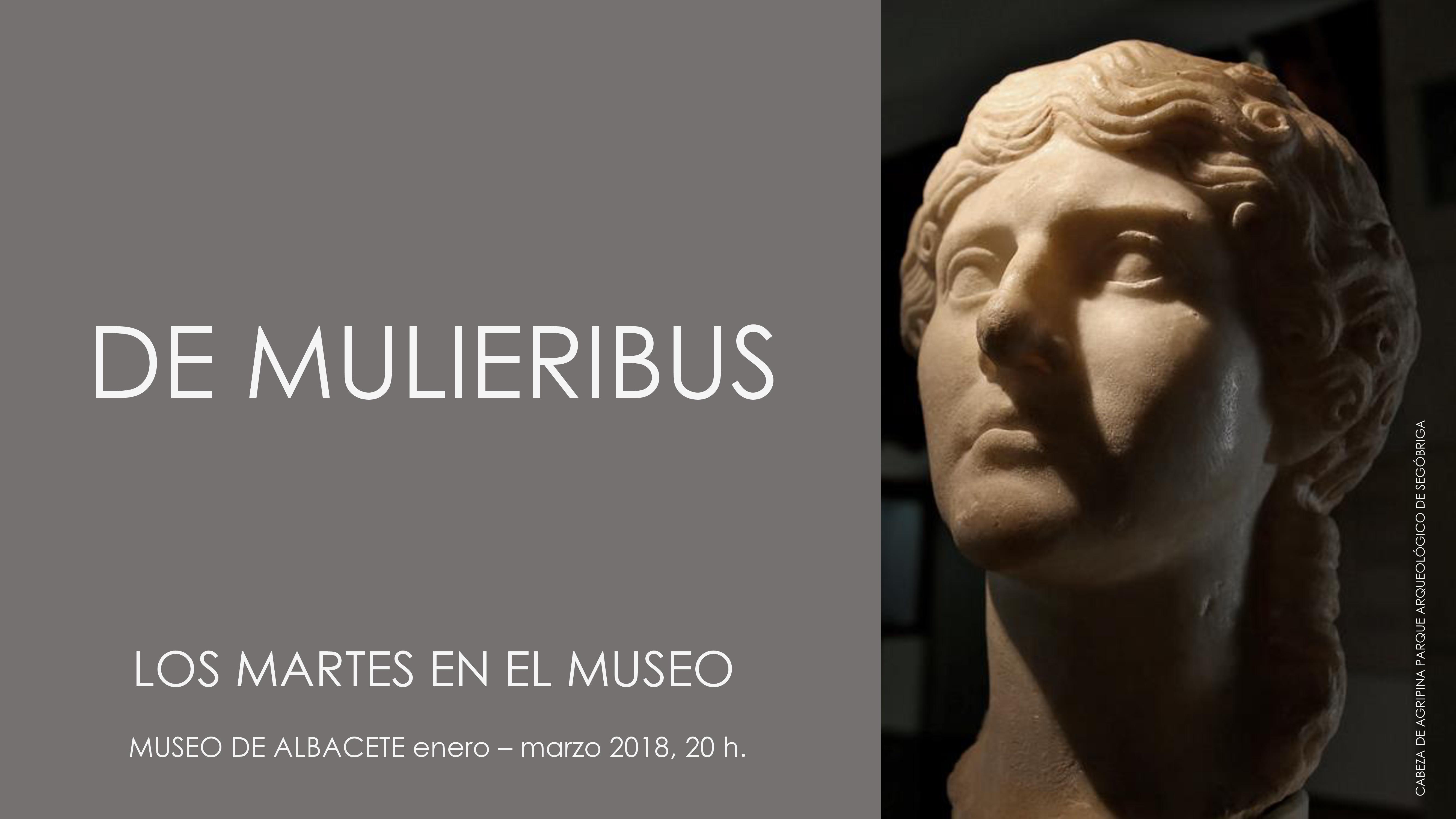 """Imagen de la actividad LOS MARTES EN EL MUSEO. PROGRAMA DE CONFERENCIAS """"DE MULIERIBUS"""""""