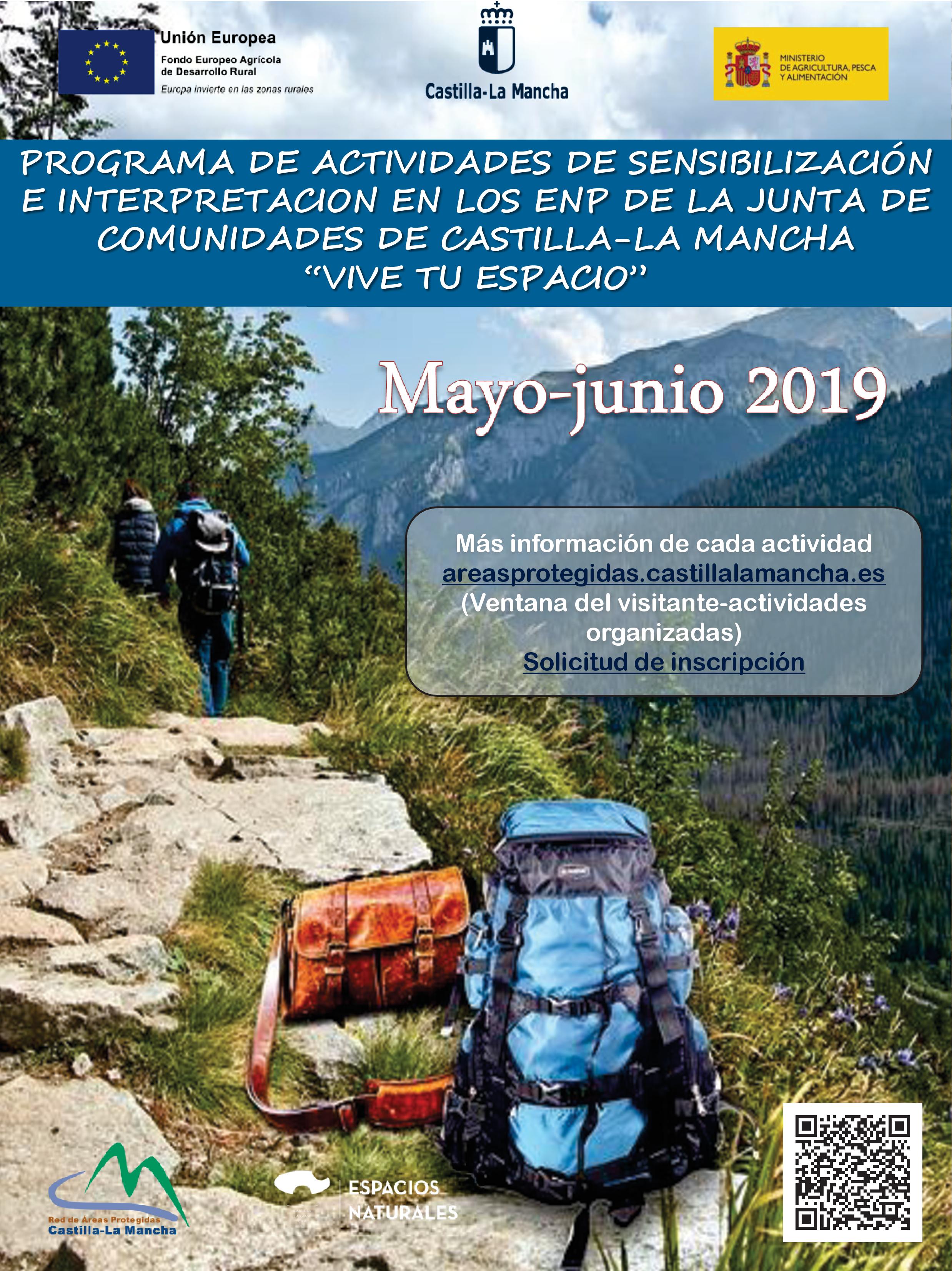 Imagen de la actividad Actividades organizadas en Espacios Naturales Protegidos.MAYO Y JUNIO 2019. Apúntate y ¡Vive tu Espacio!