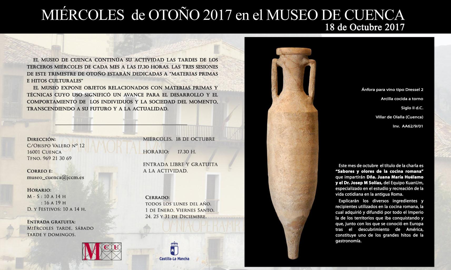 Imagen de la actividad MIÉRCOLES DE OTOÑO EN EL MUSEO DE CUENCA. 18 DE OCTUBRE DE 2017