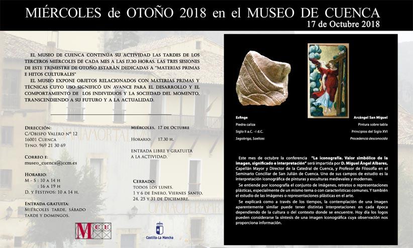 """Imagen de la actividad MIÉRCOLES DE OTOÑO EN EL MUSEO DE CUENCA. 18 de octubre de 2018: """"La iconografía. Valor simbólico de la imagen, significado e interpretación"""""""