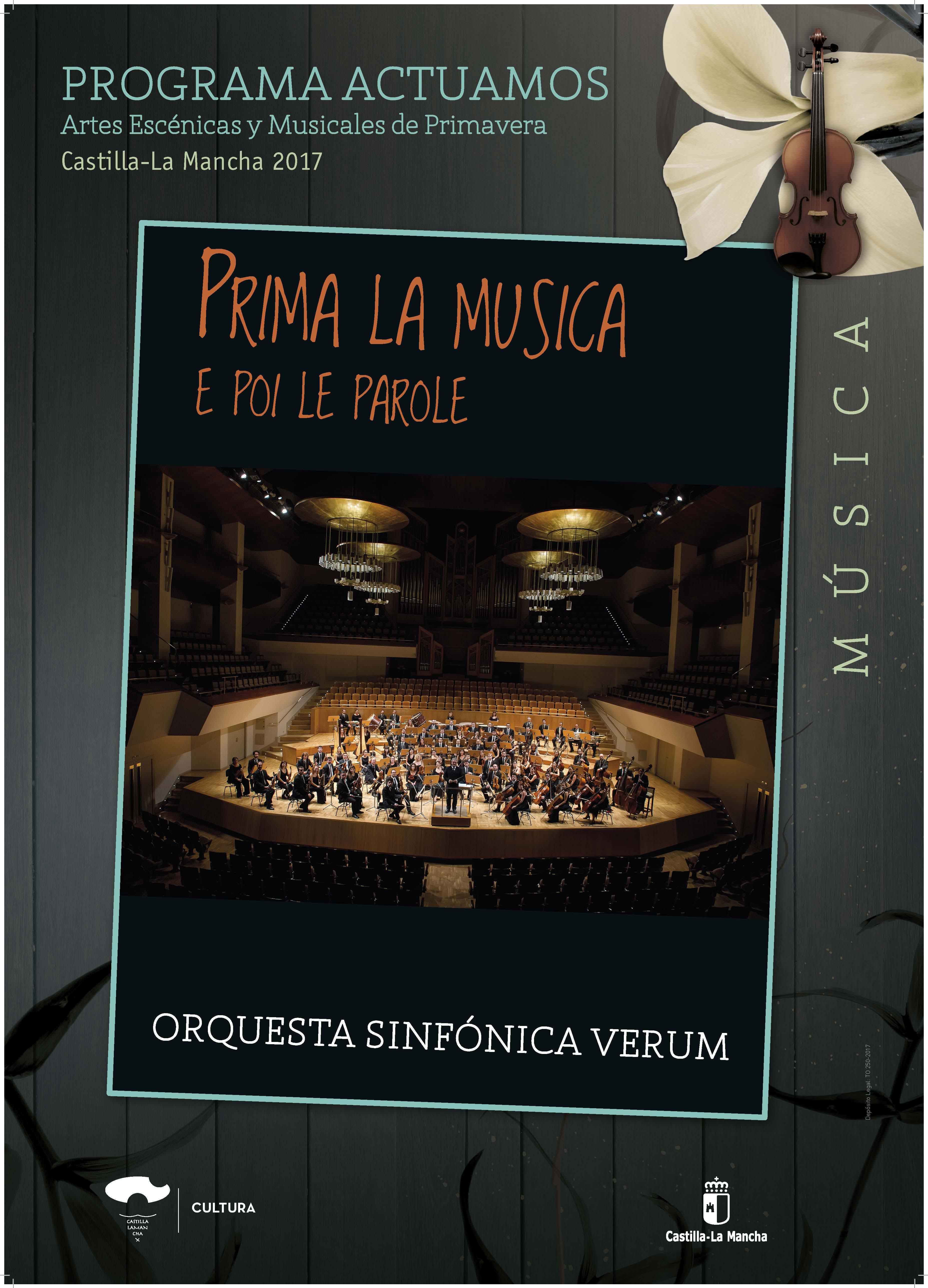 Imagen de la actividad PRIMA LA MUSICA E POI LE PAROLE (Orquesta Sinfónica Verum)
