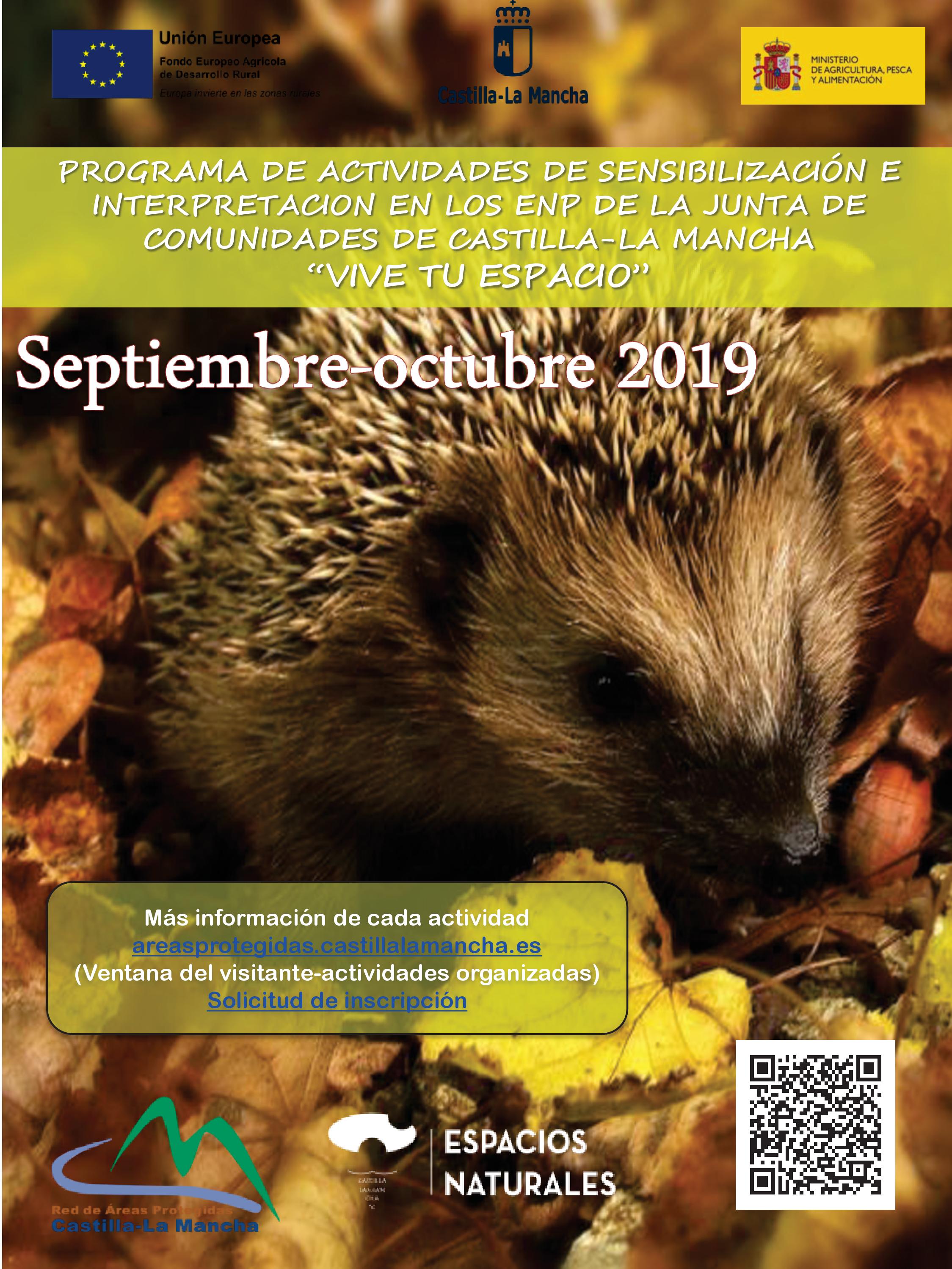 Imagen de la actividad Actividades organizadas en Espacios Naturales Protegidos.SEPTIEMBRE Y OCTUBRE 2019. Apúntate y ¡Vive tu Espacio!