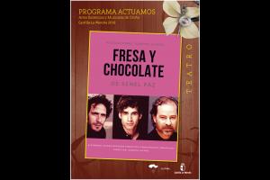 """Imagen de la actividad Programa Actuamos.Artes Escénicas y Musicales de Otoño. Castilla-La Mancha 2019  .""""Fresa y Chocolate"""".Producciones Alberto Alfaro S.L."""