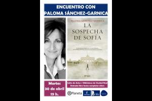 """Imagen de la actividad Encuentro Autor """" . Paloma Sánchez-Garnica y su obra """"La sospecha de Sofía"""""""