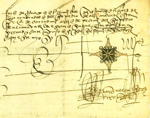 Imagen de la actividad Documento del mes en el Archivo Histórico de Albacete. Mayo 2019: el signo notarial