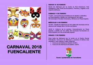 Imagen de la actividad CARNAVAL 2018 FUENCALIENTE