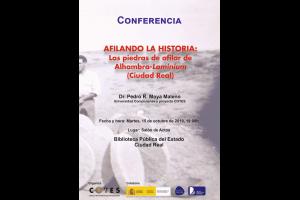 """Imagen de la actividad Conferencia: """"Afilando la Historia: Las piedras de afilar de  Alhambra (Ciudad Real )"""". Pedro Moya-Maleno"""