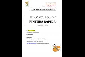 Imagen de la actividad III CONCURSO DE PINTURA RAPIDA EN FUENCALIENTE