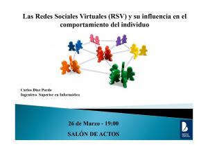 Imagen de la actividad Las redes sociales virtuales y su influencia en el comportamiento del individuo : conferencia