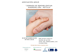 Imagen de la actividad Jornada de sensibilización -Síndrome Uña-Rótula a cargo de la Asociación Española Síndrome Uña Rotula (AESUR)