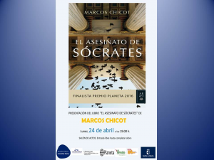 """Imagen de la actividad Presentación de libro """"El asesinato de Sócrates"""" por Marcos Chicot."""