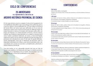 Imagen de la actividad Ciclo de Conferencias - 25 años de la nueva sede del Archivo Histórico de Cuenca