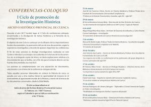 Imagen de la actividad I Ciclo de Fomento de la Investigación Histórica