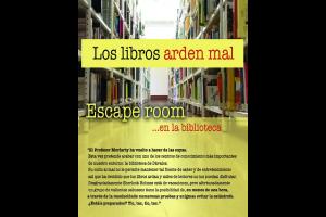 Imagen de la actividad Los libros arden mal : escape room en la biblioteca
