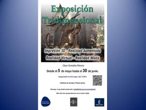 """Imagen de la actividad Exposición nuevas tecnologías """"Representaciones Tridimensionales"""""""
