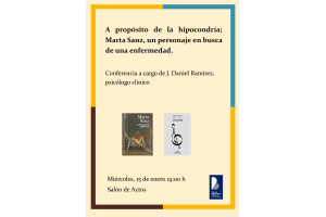 Imagen de la actividad A propósito de la hipocondría; Marta Sanz, un personaje en busca de una enfermedad