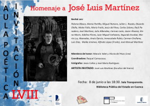 Imagen de la actividad Homenaje a José Luis Martínez