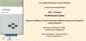 """Imagen de la actividad Presentación de libro: """"270 º  Poemas"""", de Hortensia Llamas"""