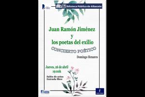 Imagen de la actividad Concierto poético: Juan Ramón Jiménez y los poetas del exilio.
