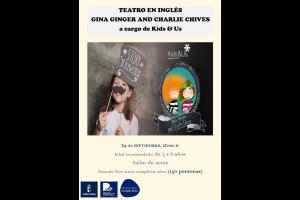 "Imagen de la actividad Teatro en inglés ""Gina Ginger and Charlie Chives"" a cargo de Kids & Us"