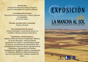 """Imagen de la actividad Exposición Temporal : """"La Mancha al sol"""". Escritores de la provincia de Ciudad Real"""