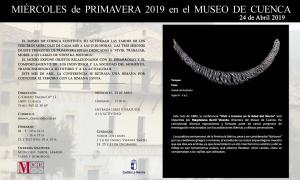 Imagen de la actividad MIÉRCOLES DE PRIMAVERA EN EL MUSEO DE CUENCA. 24 de abril de 2019