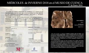 """Imagen de la actividad MIÉRCOLES DE INVIERNO EN EL MUSEO DE CUENCA. 17 DE ENERO DE 2017 """"NUESTRA ESCRITURA ANTES DE ROMA"""""""