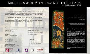 Imagen de la actividad MIÉRCOLES DE OTOÑO EN EL MUSEO DE CUENCA. 22 DE NOVIEMBRE DE 2017