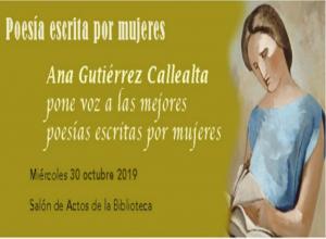 Imagen de la actividad Poesía escrita por mujeres : conferencia organizada por la Asociación de Amigos de la Biblioteca