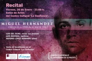 Imagen de la actividad RECITAL POÉTICO. CONCIERTO HOMENAJE A MIGUEL HERNÁNDEZ